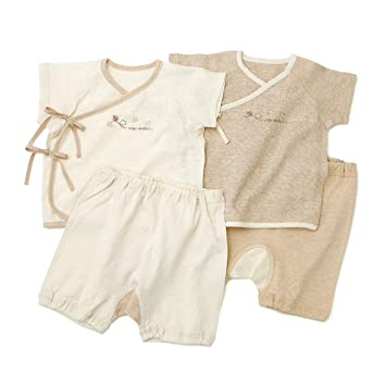 7961e999f0afb キムラタン 愛情設計  日本製 ベビースーツ :50cm~70cm ベージュ (20787