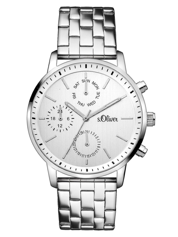 s.Oliver Damen-Armbanduhr Analog Quarz Edelstahl SO-3187-MM