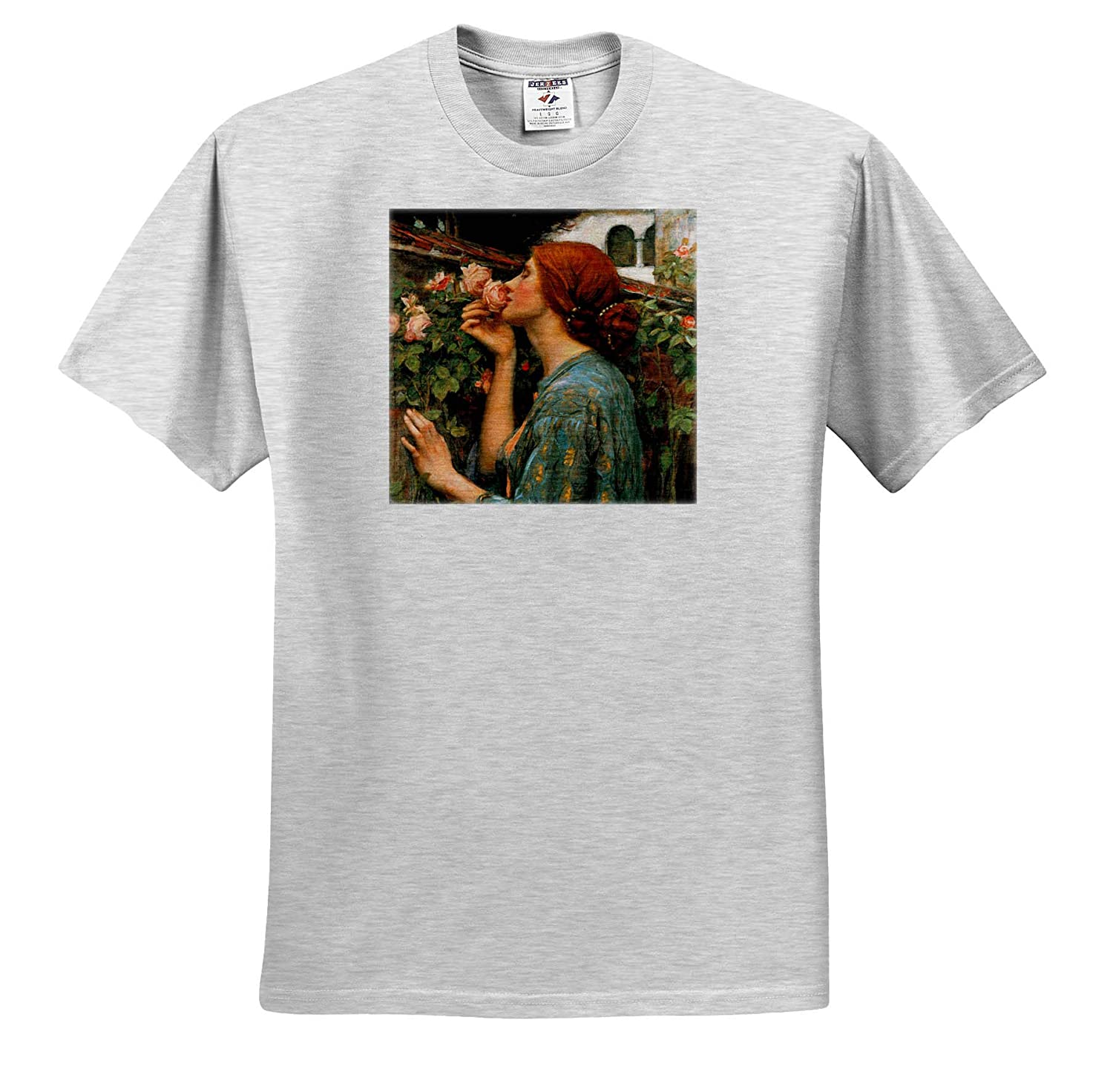 T-Shirts Smell of Roses Waterhouse 3dRose VintageChest Masterpieces