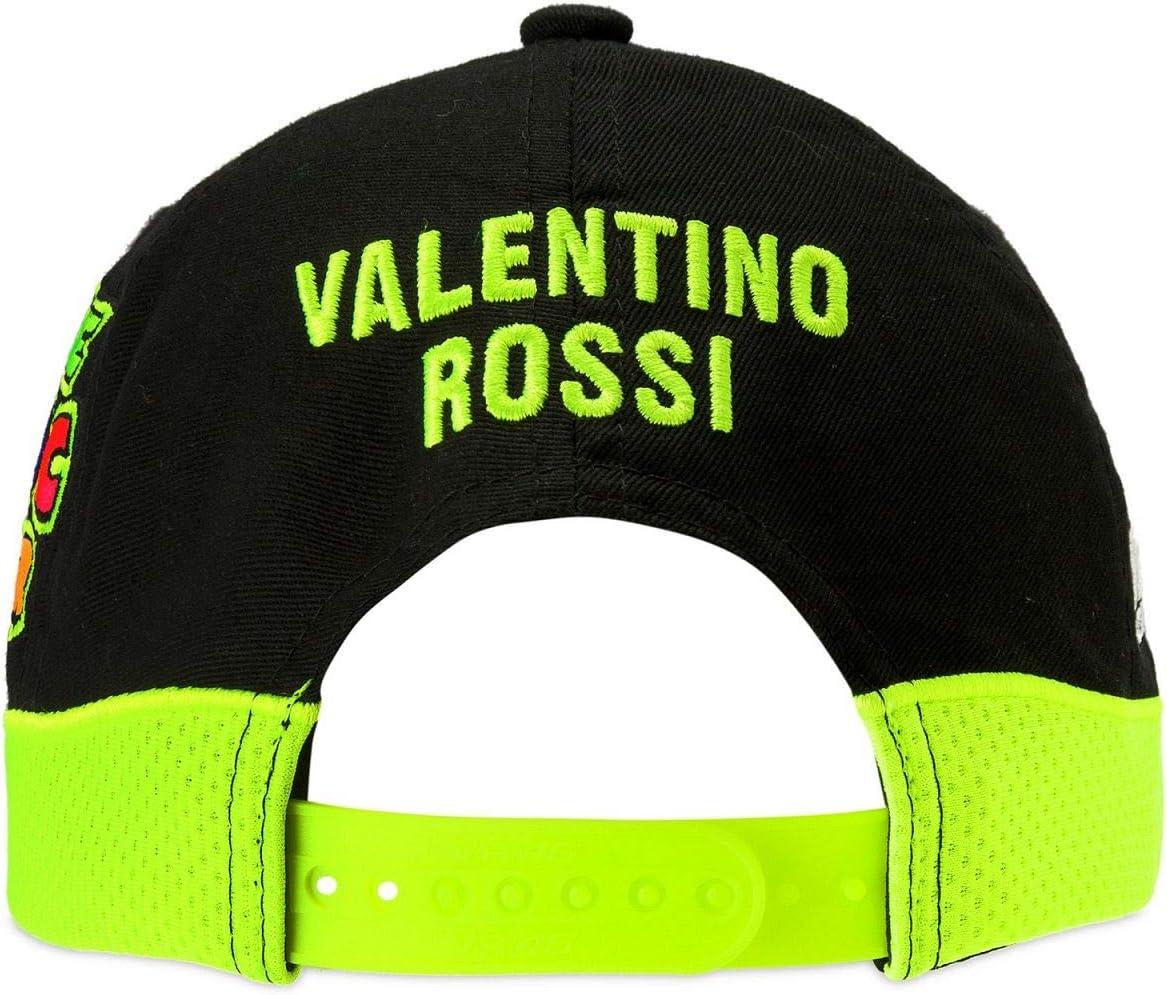 Gorra para ni/ño Yamaha VR46 Valentino Rossi original oficial MotoGP YZR M1 Diapas/ón logo amarillo azul colecci/ón factory racing