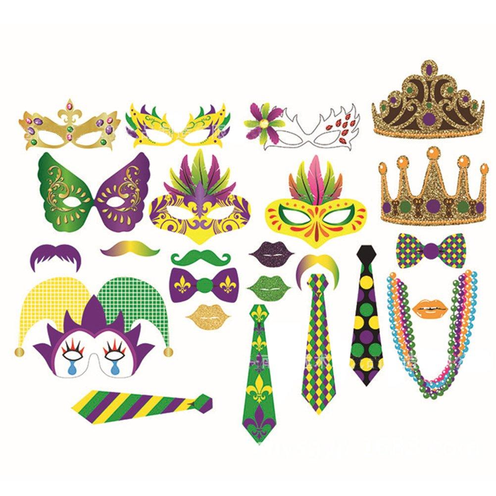 LUOEM Photo Booth para Carnaval Banquete Party Fiestas Divertidas Decoraciones de Fotografía 24 Piezas