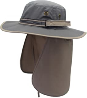 73b47d8827e1d Home Prefer Mens Sun Hat with Neck Flap Quick Dry UV Protection Caps  Fishing Hat