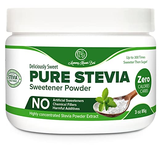 Pure Stevia Powder Extract Sweetener - Zero Calorie Sugar Substitute - No Artificial Ingredients (1,500 Servings)