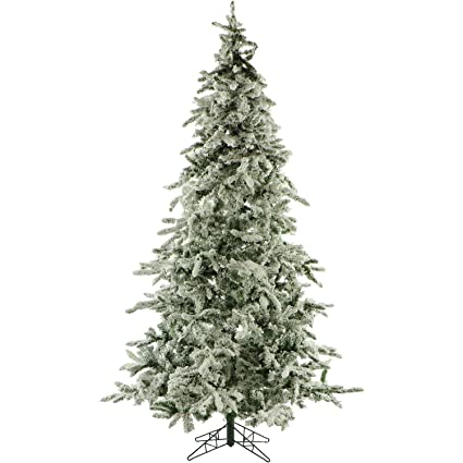 9 ft flocked mountain pine