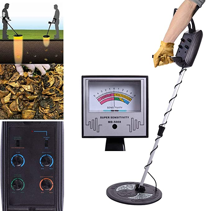 Amazon.com : Tobbi MD-5008 Metal Detector Gold Digger Hunter Deep Sensitive Search : Garden & Outdoor