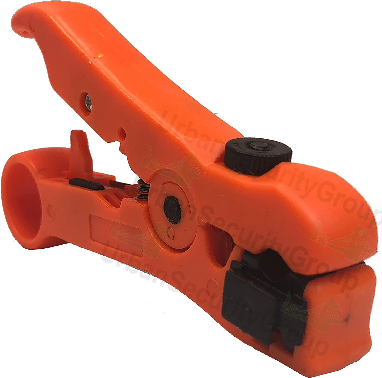 Plastic Construction : Premium Pro Grade Cat6 STP : Round /& Flat Cable : Comfortable Grip : High Grade Steel RG11 : Network Cat5e RG7 UTP USG Orange CCTV Cable Stripper : Coaxial RG59 RG6