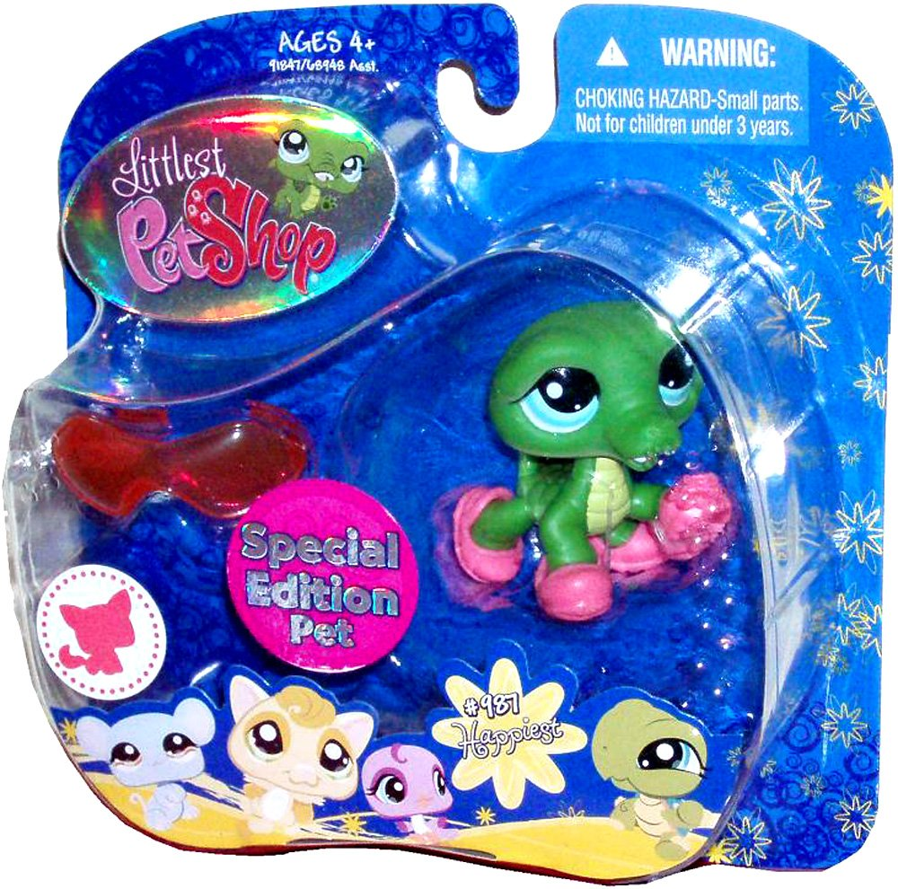 Hasbro Littlest Collectible Pet Shop Shop Pet Special Edition Pet Portable Collectible Bobble Head Figure Set - Happiest #987 Alligator with Slippers and Sunglasses by Littlest Pet Shop B00541XF66, インポートマルシェ:a99e1635 --- arvoreazul.com.br