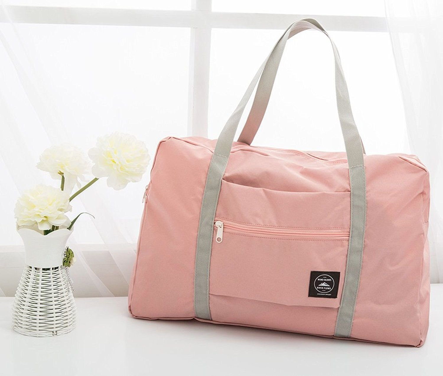 Okdeals Travel Lightweight Foldable Waterproof Carry Storage Luggage Duffle Tote Bag (Pink) by Okdeals (Image #4)