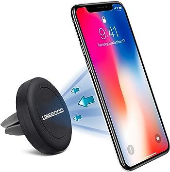 Ubegood Air Magnético para Coche Soporte de Smartphone Movil Coche Strong Magnética para iPhone,Samsung,Google Nexus, Huawei, Xiaomi, GPS(Negro): Amazon.es: Electrónica