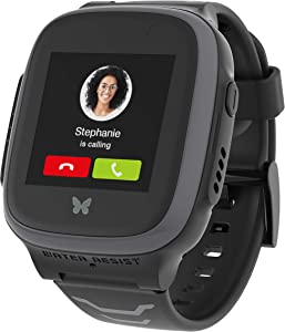 XPLORA X5 Play - Watch Phone for Children (SIM Free) 4G - Calls, Messages, Kids School Mode, SOS Function, GPS Location, Camera and Pedometer (Black)