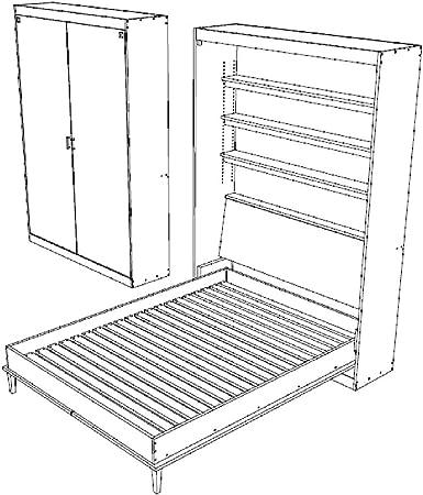 Construye tus propios planes de cama de Murphy, tamaño queen, para la pared, para la cama o el dormitorio