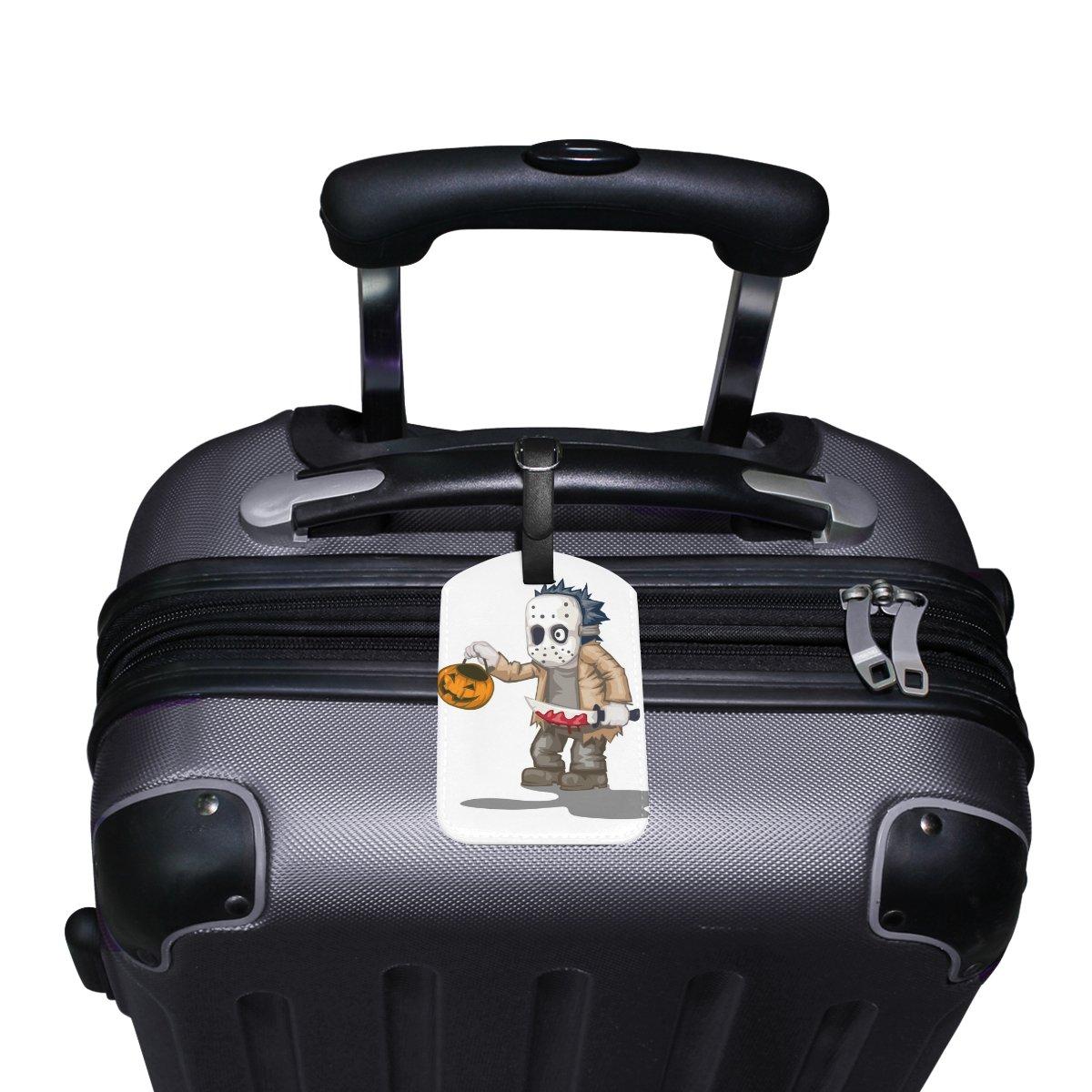 Saobao Travel Luggage Tag Skull And Dagger Pumpkin PU Leather Baggage Suitcase Travel ID Bag Tag 1Pcs
