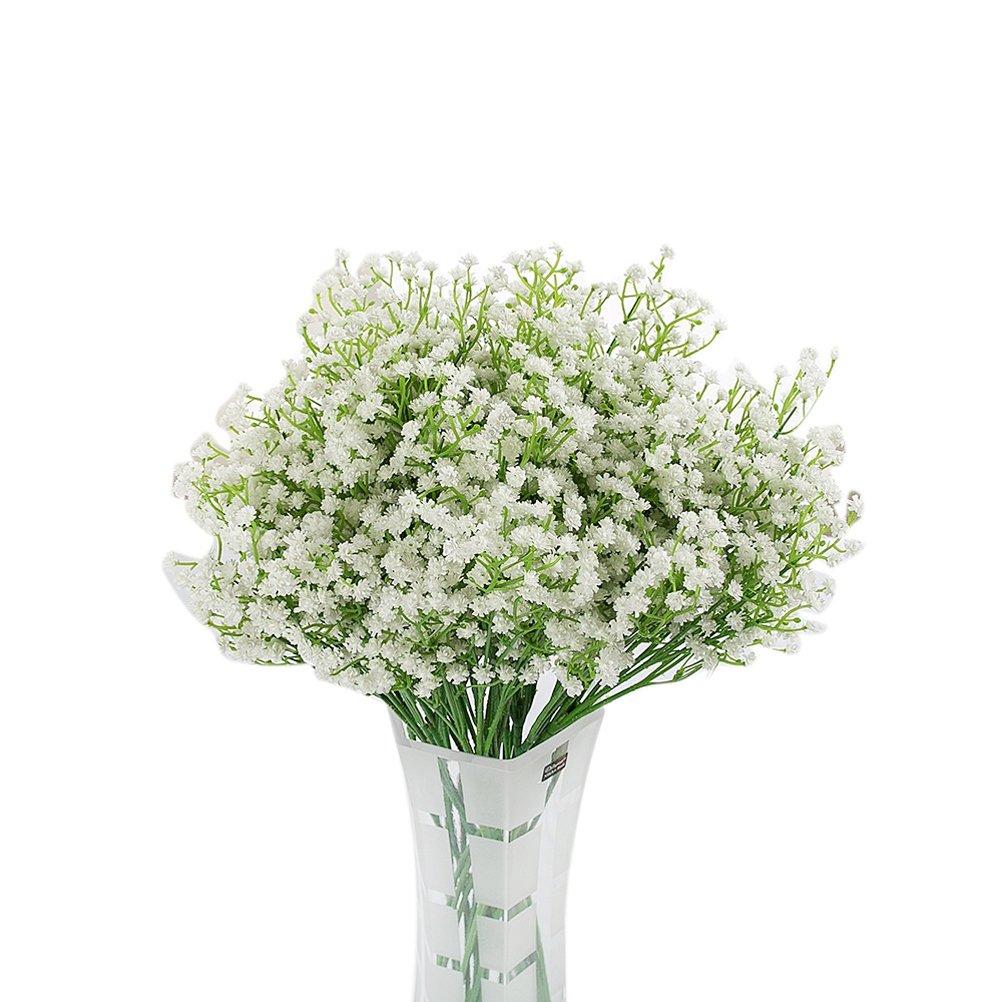 eliffete Artificial Flowers GypsophilaブライダルブーケウェディングホームDIY装飾 9Pcs ホワイト B073Q1WYH7 ホワイト 9Pcs