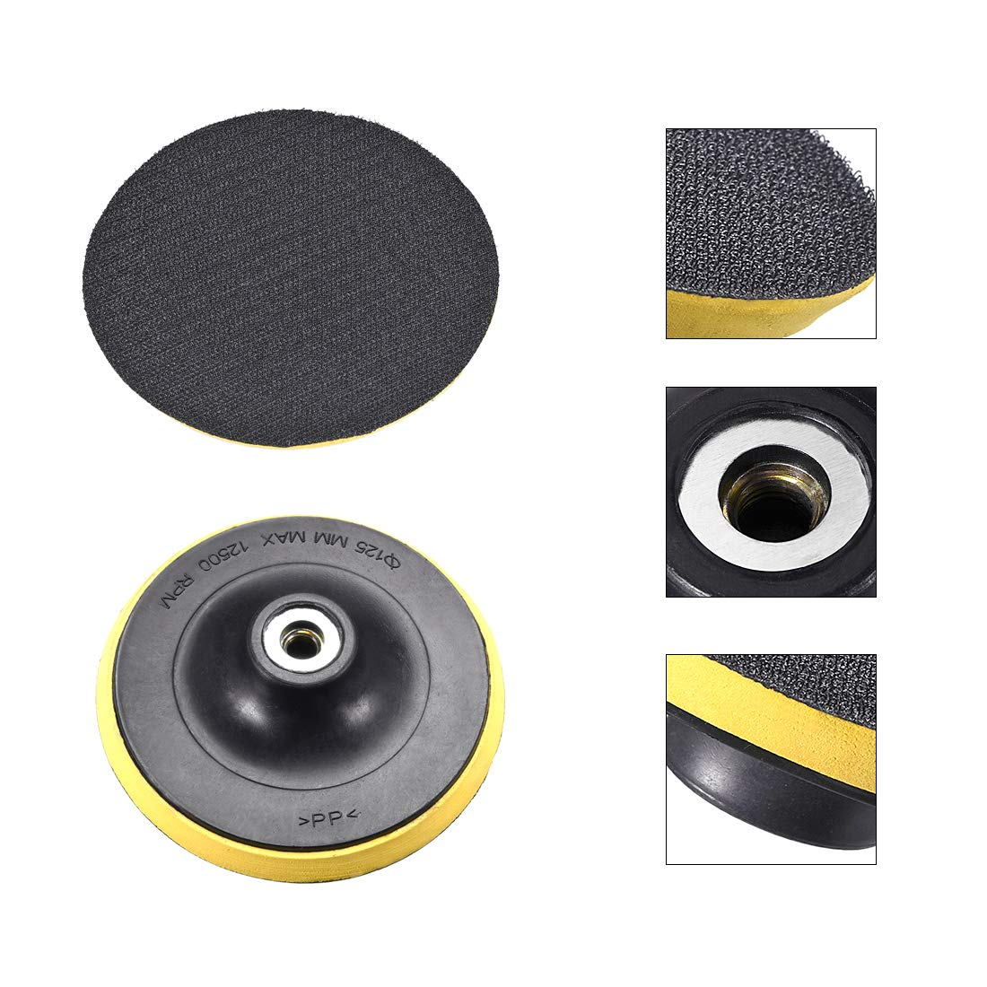 Orbital Sander Polisher Polishing Sanding Pad M10 Drill Adapter uxcell/® 4-inch Hook and Loop Backing Pad
