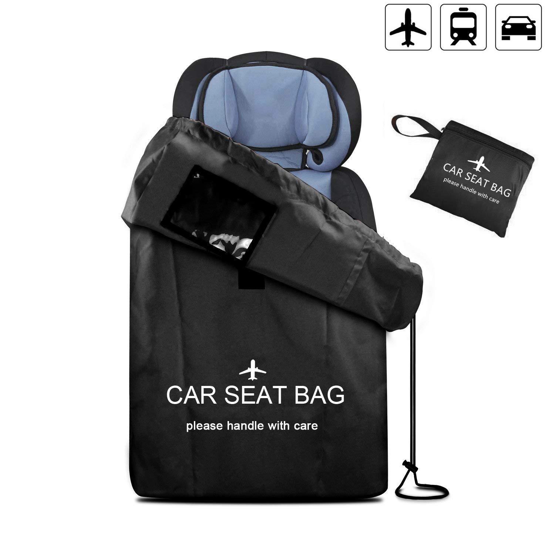 Car Seat Bag Large Gate Check Travel Luaage Bag with Backpack Shoulder Straps, Lightweight Baby Car Seat Storage Bag Stroller Carrier for Airplanes Trains by UMJWYJ