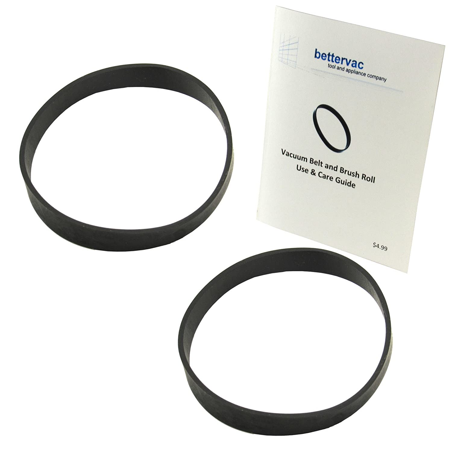 Bissell PowerForce & PowerForce Helix Vacuum Belt 2 Pack #2031093 Bundled With Use & Care Guide