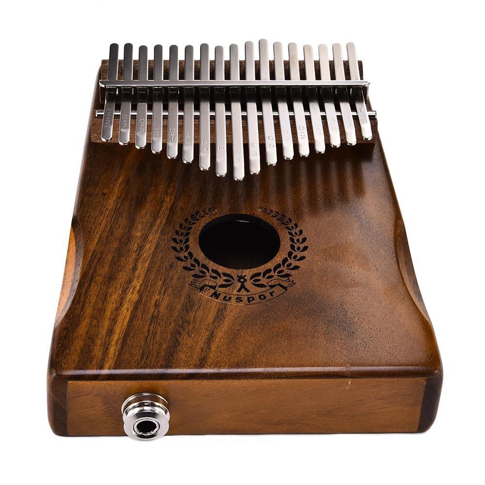 Samber Kalimba 17 Keys Thumb Piano Solid Finger Piano 17Key EQKalimbaSolidAcaciaThumbPianoLinkSpeakerElectricPickupwithBagCable with Tuning and Note Layout by Samber (Image #6)