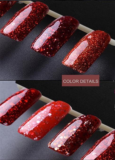 Amazon.com : VEAMOR Platinum Gel Nail Polish Soak Off UV LED Diamond ...