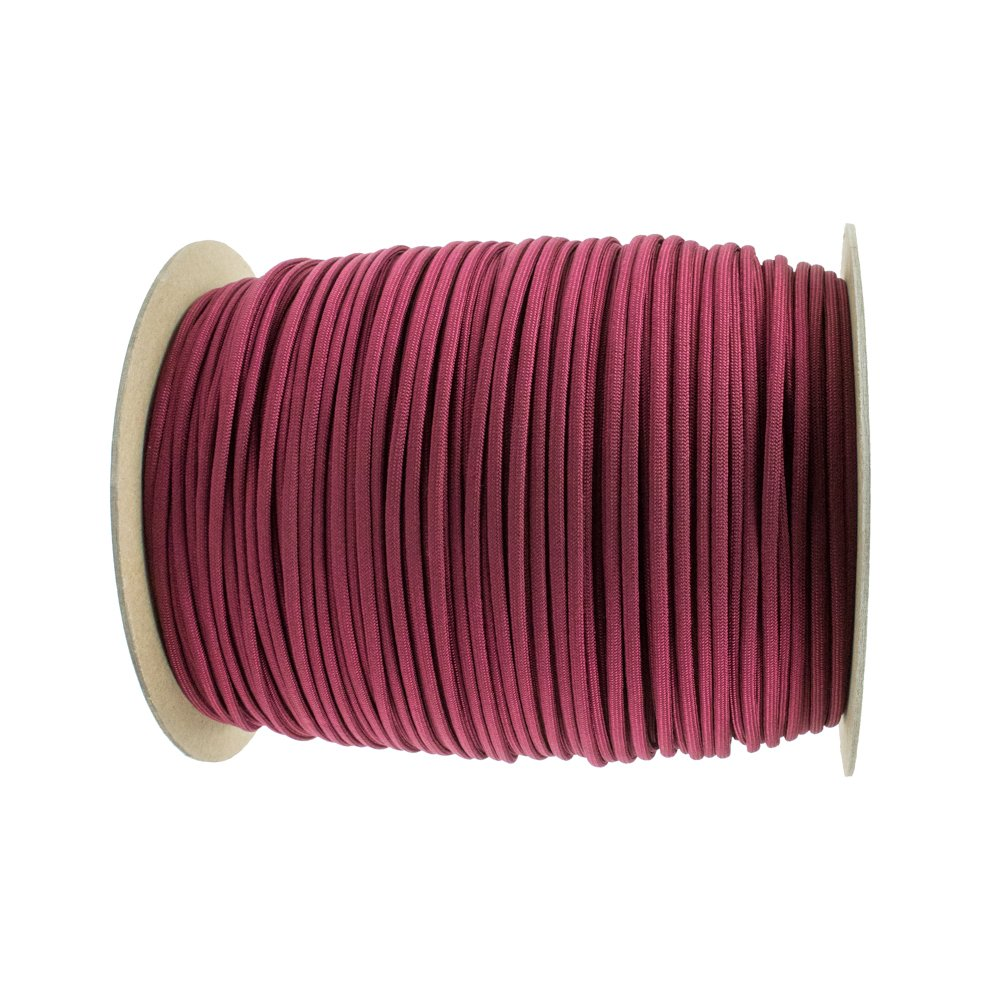 Paracord Planet Nylon 7 Type III Strand Inner Core Paracord - 250 Feet, Burgundy