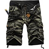 AOWOFS Men's Cotton Cargo Shorts Relaxed Fit Outdoor Mult-Pockets Casual Pants