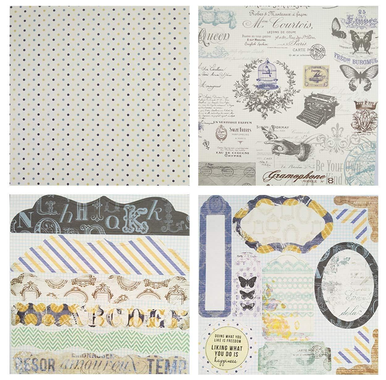 "Gnognauq 40Pcs Multi-Colored Designer Paper Decorative Craft Paper for Creative Scrapbooking and Cards,7/'/'X7/"" DSM008"