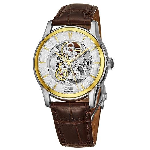 Oris Artelier Reloj de Hombre automático 40mm 00 734 7670 4351-LS73: Amazon.es: Relojes