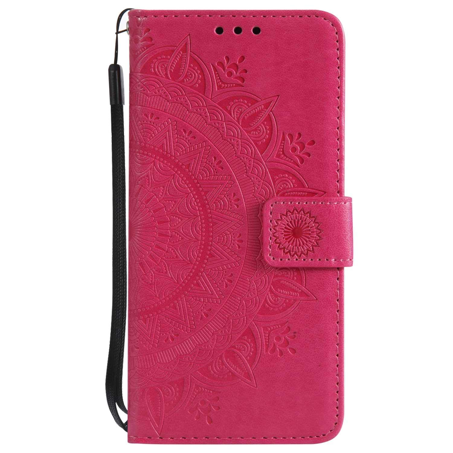iPhone 7 8 Case, The Grafu Leather Case, Premium Wallet Case with [Card Slots] [Kickstand Function] Flip Notebook Cover for Apple iPhone 7/8, Rose Red