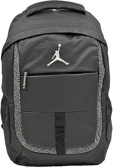 Silver Nike Jordan Boys Backpack Black