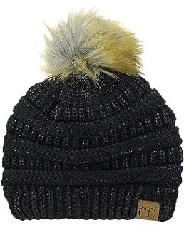 great fit 5d36e 37948 ... sweden nyfashion101 exclusive soft stretch cable knit faux fur pom pom  beanie hat 8b055 d428d