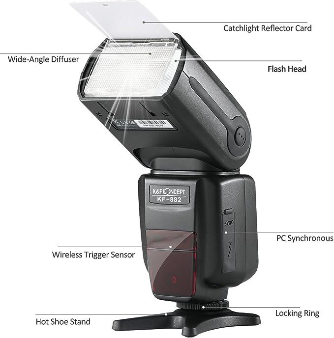 K&F Concept KF-882 Speedlite Flash para Cámara DSLR Canon ...