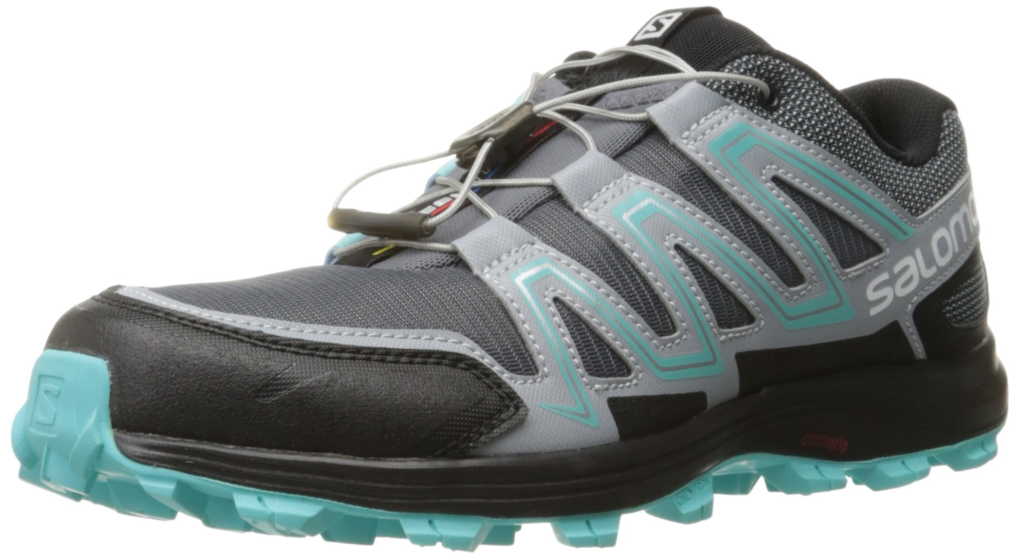 Salomon Women's Speedtrak W Trail Runner, Dark Cloud/Light Onix/Bubble Blue, 11 M US