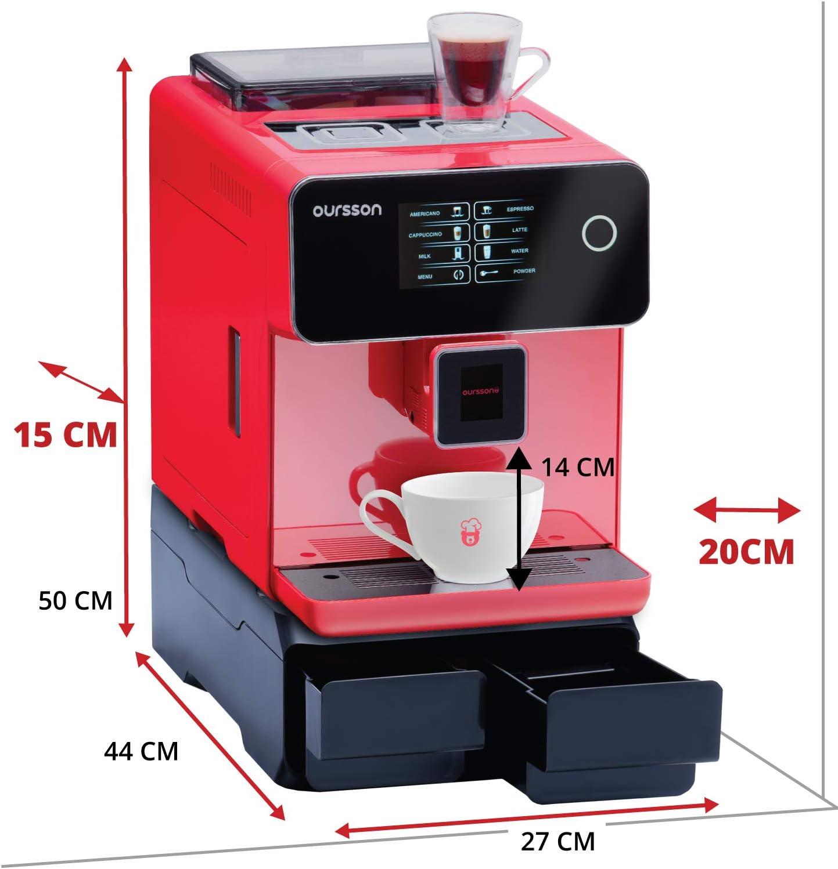 Oursson AM6250/RD Máquina de café Super Automática Molinillo ...