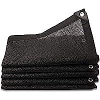 MY1MEY Tuin Shade Doek Plastic Luifel Zwarte Kas Covers 80% Sunblock Shade Doek, Rechthoek Sunblock Shade Mesh Netto…