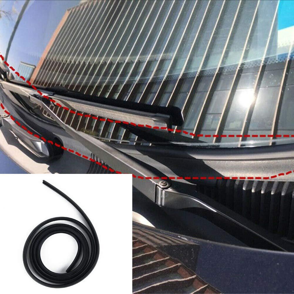 Allfuu Auto Gummidichtung auto Dichtungsleiste aus Gummi Autot/ür T/ürdichtung 1 St/ück Gummidichtungsschutzleiste unter Scheibenwischerblende Dekor 1.7m