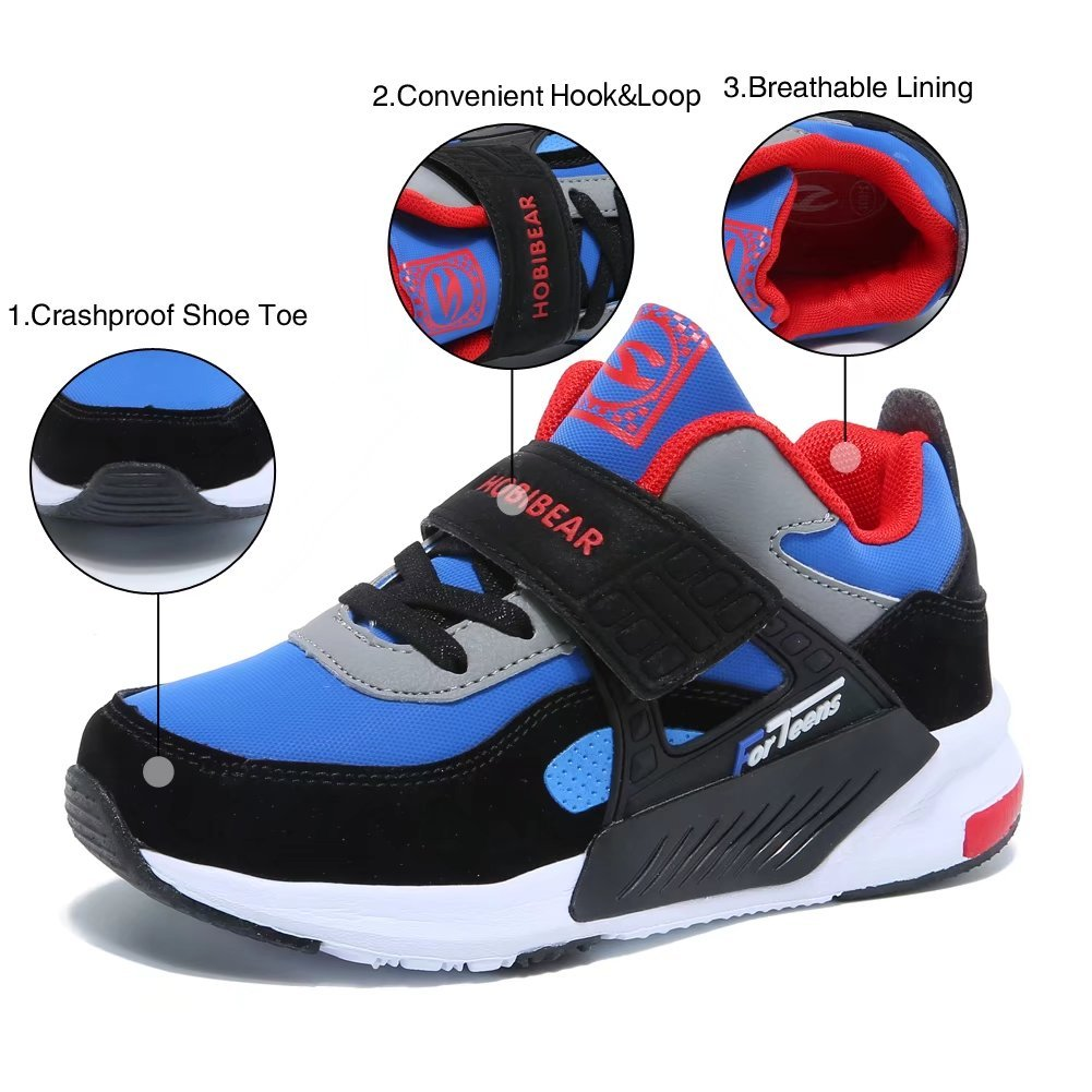 GUBARUN Running Shoes for Kids Outdoor Hiking Athletic Boys Sneakers-Blue/Black by GUBARUN (Image #5)