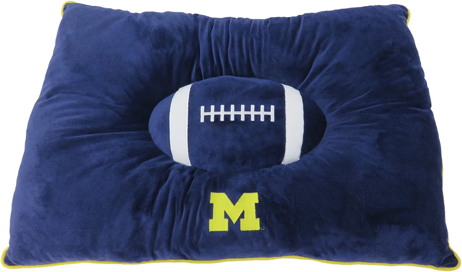 Dog Pillow 16 x 16 x 3 inches Michigan Wolverines Pets First Collegiate Pet Accessories