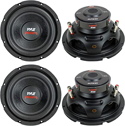 """NEW PYLE PLPW8D 8/"""" 800W Car Audio Subwoofer Sub Power Woofer DVC 4 Ohm Black"""