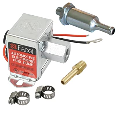 Facet FEP42SV Cube Electric Fuel Pump 1.5-4 Psi, Includes Clamps/Fittings/Filter: Automotive