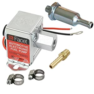 Facet FEP42SV Cube Electric Fuel Pump 1.5-4 Psi, Includes Clamps/Fittings/Filter