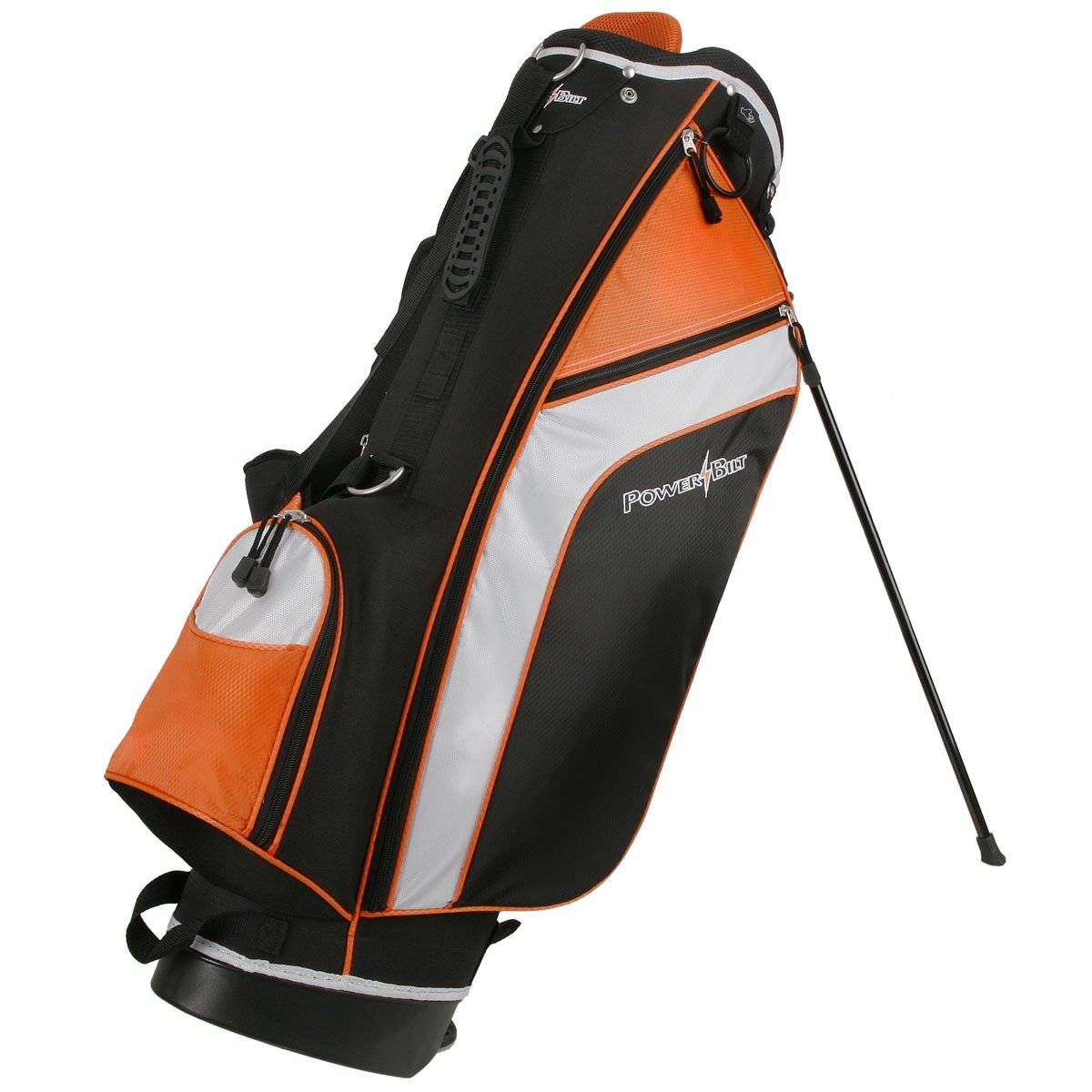 Powerbilt Santa Rosa Black/Orange Stand Golf Bag (Black/Orange)