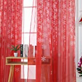 Promisen Christmas Curtains,1PCS Modern Christmas