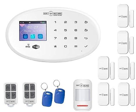 Sistema de alarma GSM y WiFi con detector de movimiento, contactos de puerta y ventana