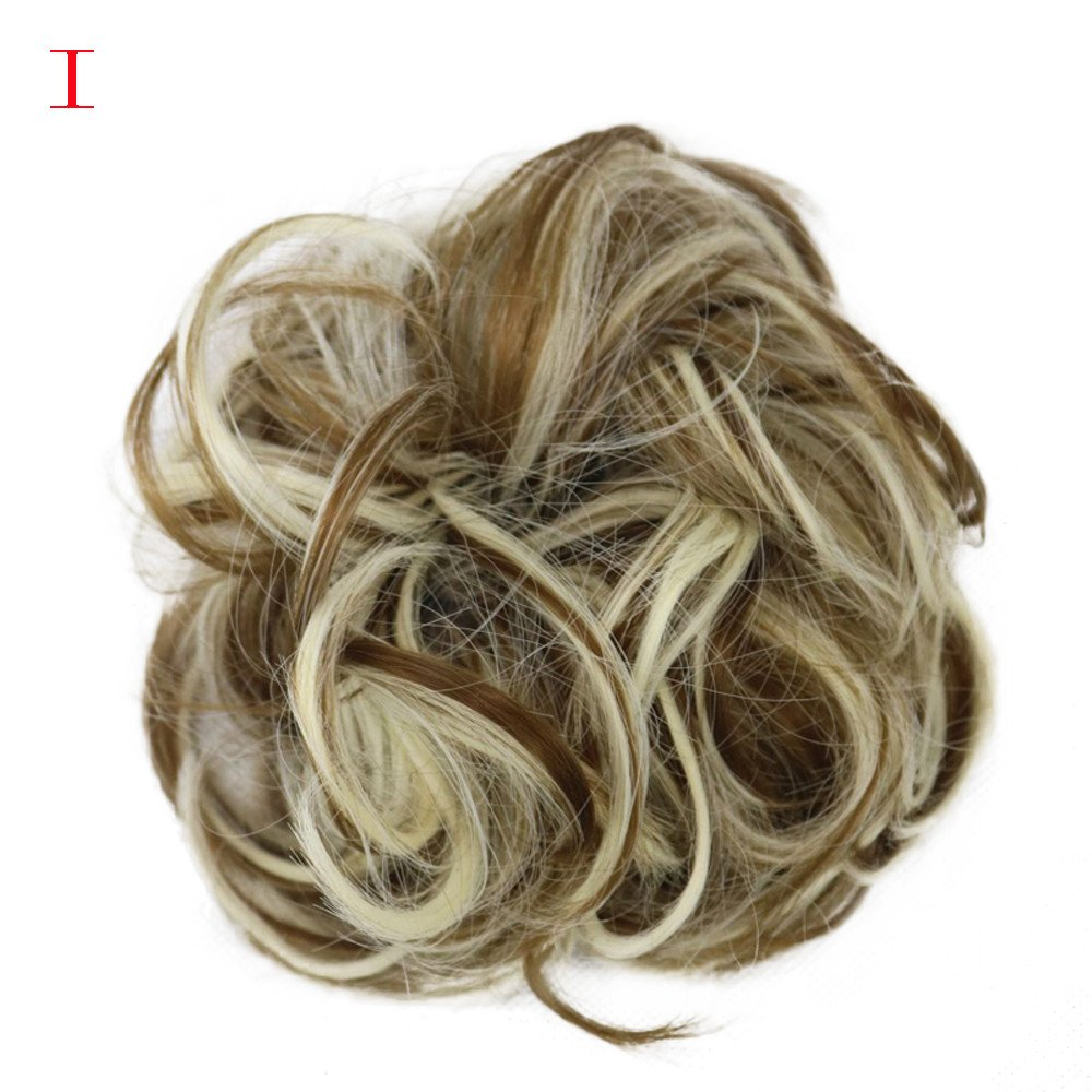 Hometom Beauty Fashion Women's Curly Messy Bun Hair Twirl Piece Wigs Fluffy Wig, Hairpieces Bun (I)
