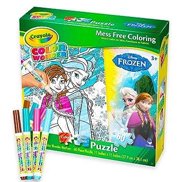 Crayola Disney Frozen Color Wonder Puzzle Set Mess Free Coloring