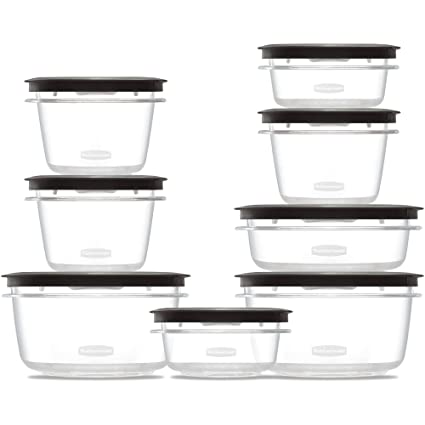 16 Piece Set Rubbermaid Premier Food Storage Containers, Shatterproof And  Resist Stains And Odors
