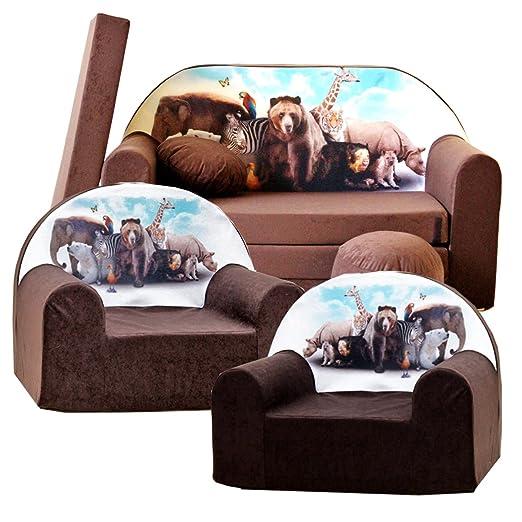 Barabike K8 - Juego de sofá Infantil y 2 sillones Infantiles ...