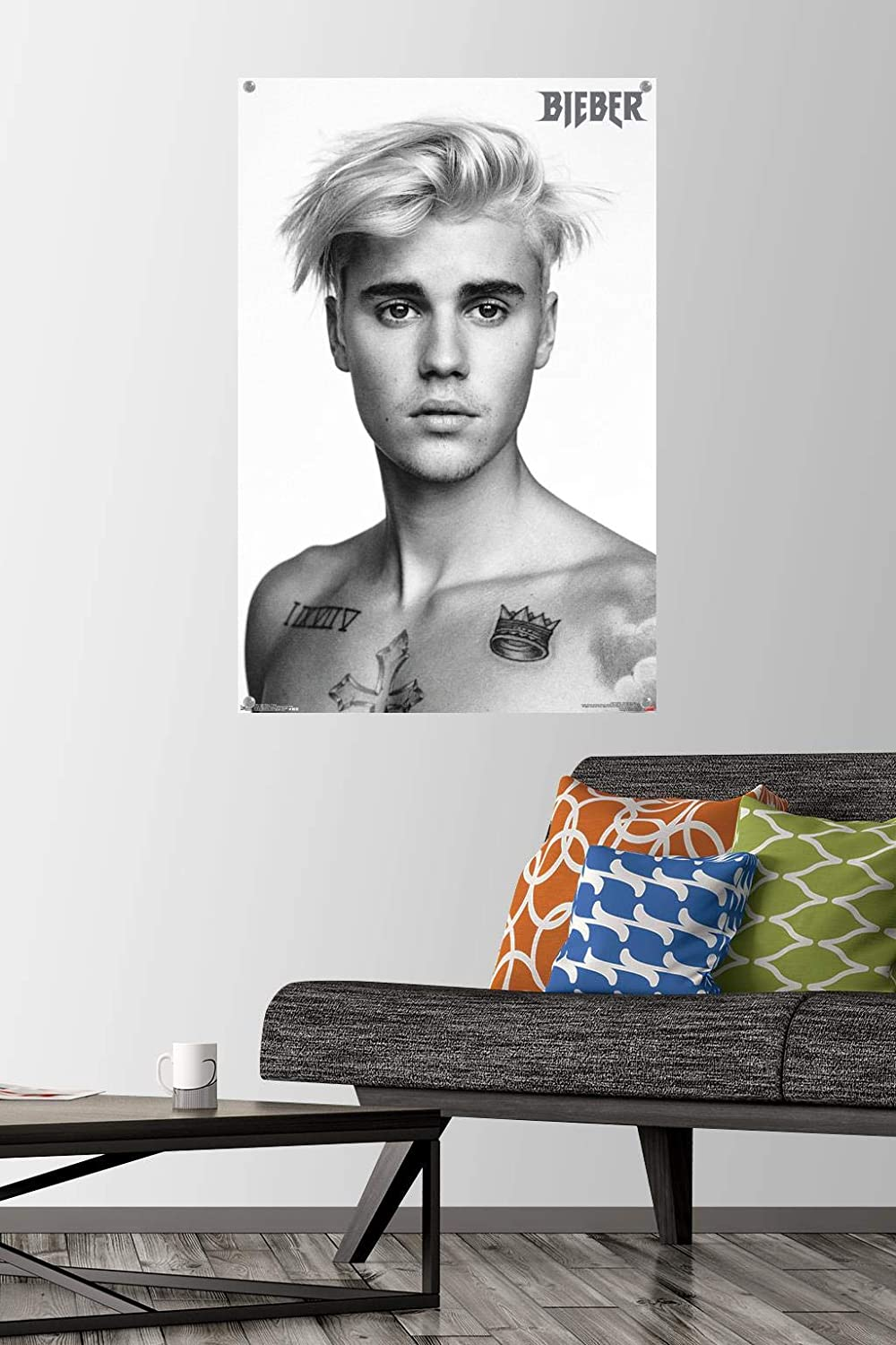 Justin Bieber - Pinup Wall Poster with Push Pins