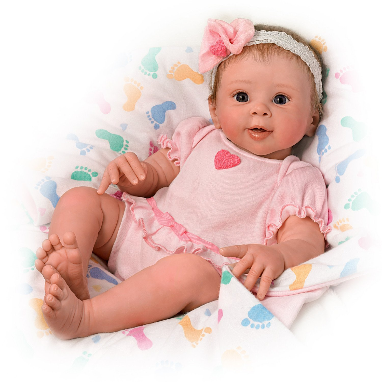 Ashton Drake Ella Realistic Touch Activated Baby Doll By