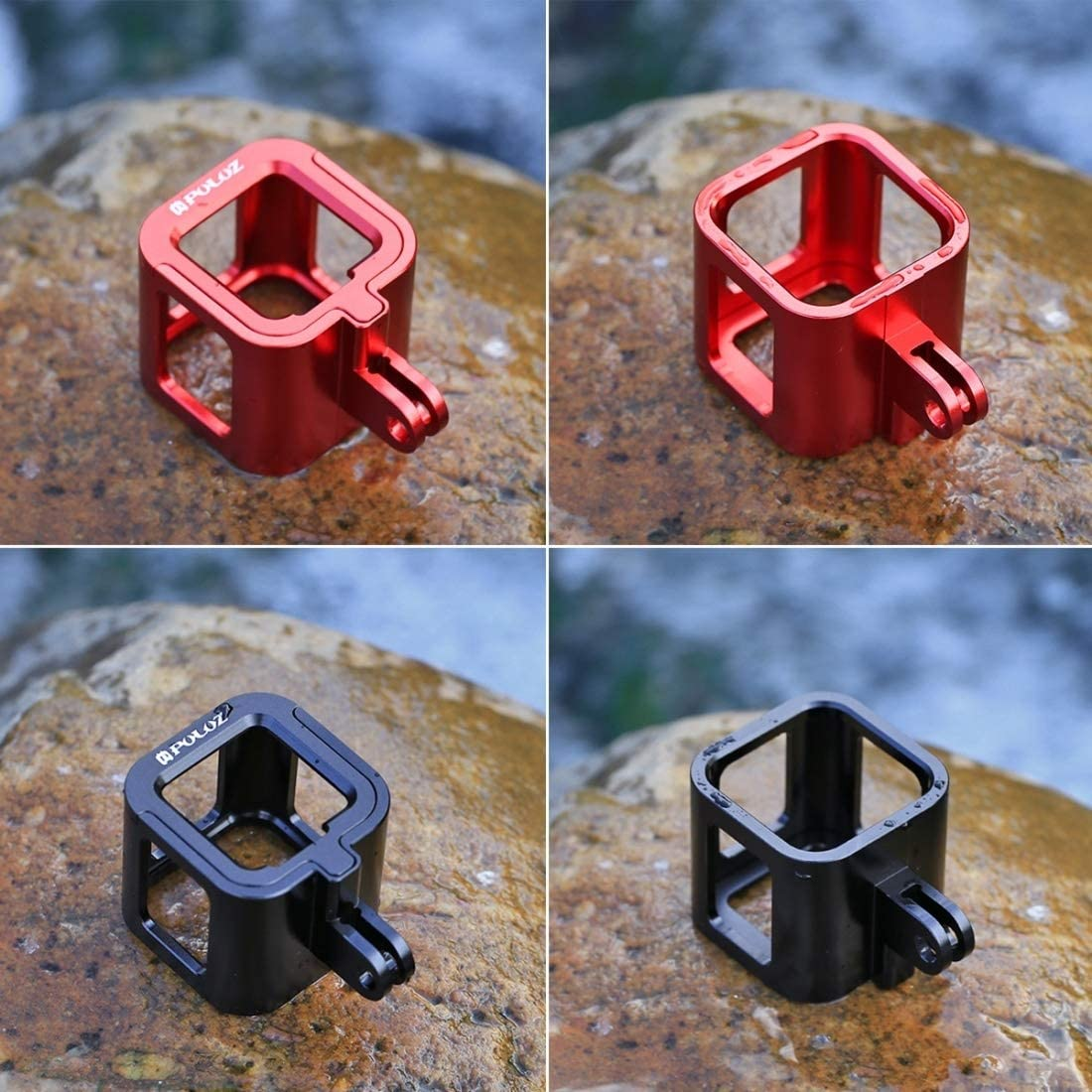 Color : Black Black YANTAIANJANE Camera Accessories 6 in 1 CNC Aluminum Alloy Housing Shell Protective Cage with Screw for GoPro HERO4 //3+