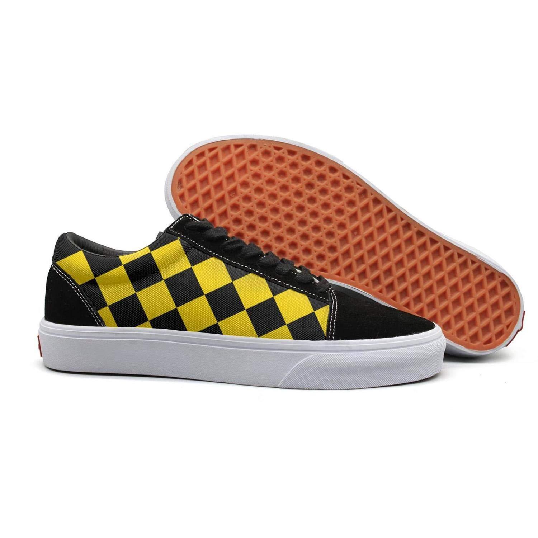 03e27cfabc084 Amazon.com: Migny Hills Women's Low Top Shoes Orange Black Checkered ...
